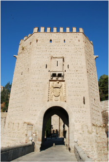 City gate of Toledo, in the region of Castile.